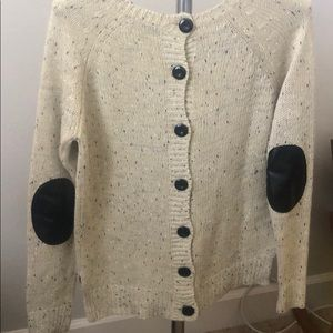 Market and Spruce Tan Sweater with buttons up back